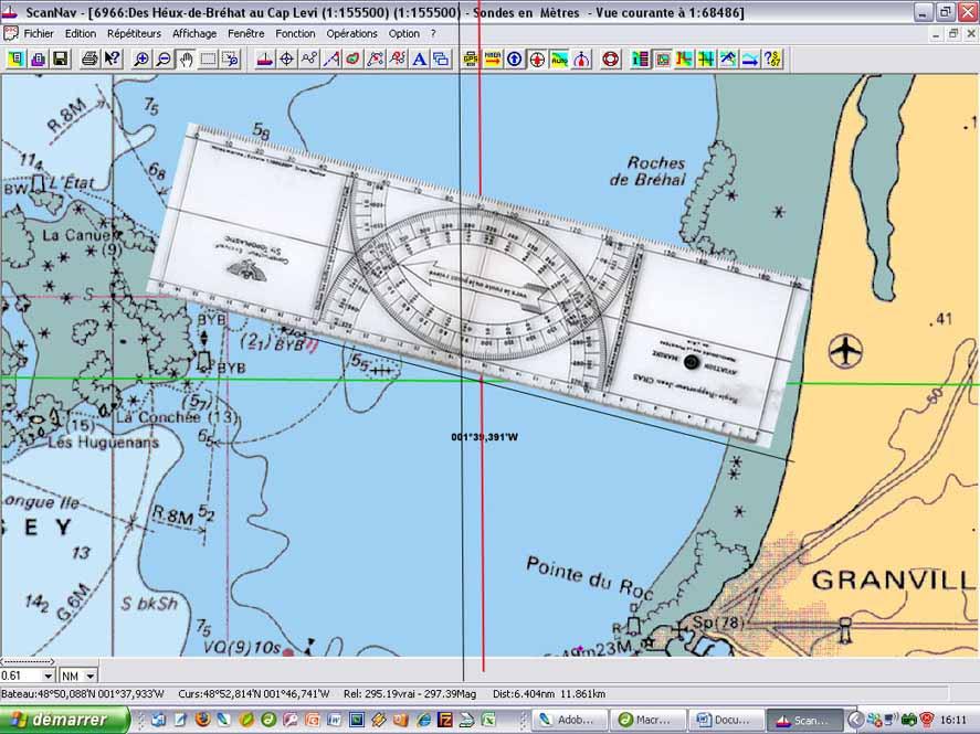 permis hauturier et cours marins  exemple de navigation